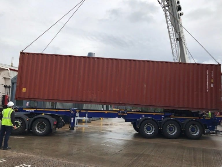 8 And Its Lowered Onto The Truck Bed To Depart For Orlando 768x576 1